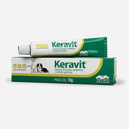 KERAVIT 5G - POMADA OFTALMOLÓGICA - VETNIL