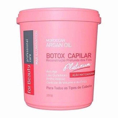 Botox Capilar For Beauty Max Ilumination Platinum com matizador 250g