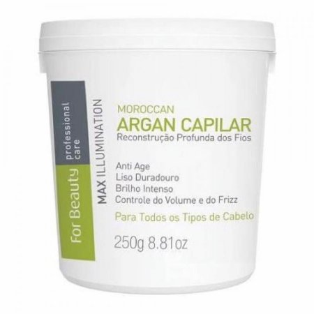 Botox Capilar For Beauty Max Illumination Argan Oil 250g