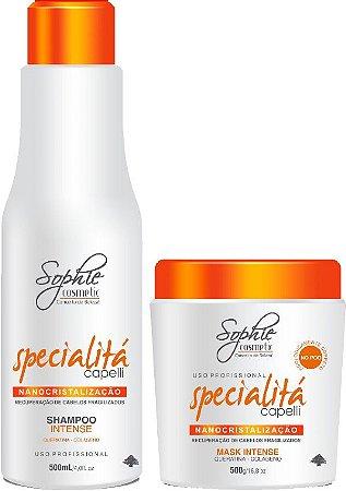 Sophie Shampoo Nanocristalização Specialitá 500ml + Nanocristalização Specialitá 500gr