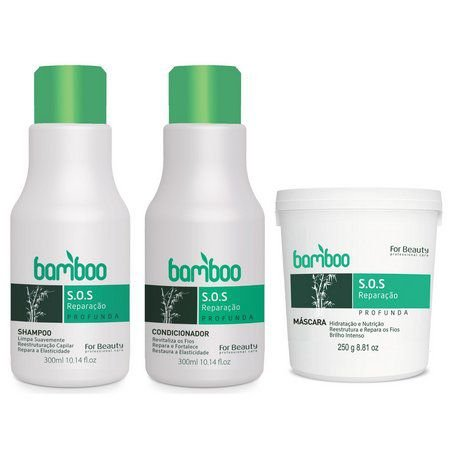KIT MANUTENÇÃO BAMBOO 3 X 250G FOR BEAUTY