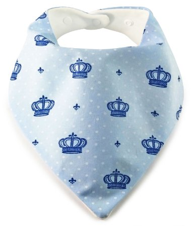 004 Babador Bandana com Estampa de Coroas Azuis