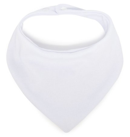 Babador Bandana em Malha Comfort Branco