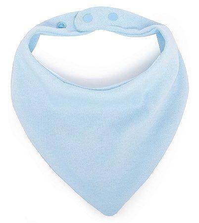 Babador Bandana em Malha Comfort Azul Bebê