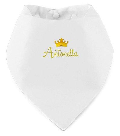 Babador Bandana Personalizado Branco