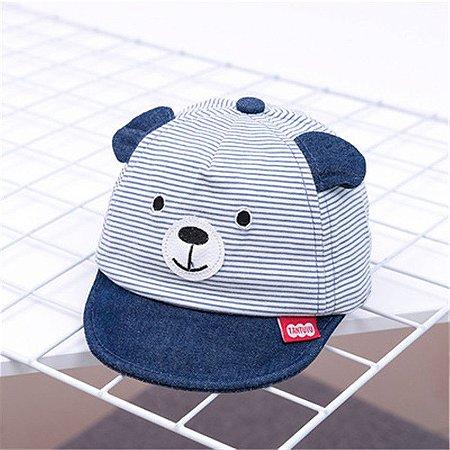 Chapéu de Orelhinhas Listrado Azul