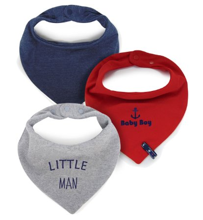 004 Kit C/ 3 Babadores Bandana Comfort Little Man