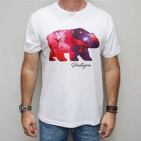 Camiseta Slim Urso Universo