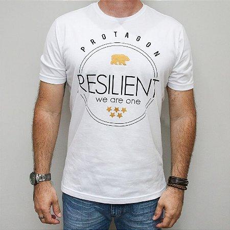 Camiseta Slim Resilient Urso Dourado