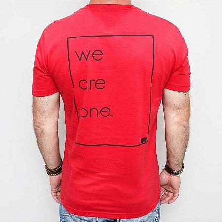 Camiseta Slim We Are One Vermelha