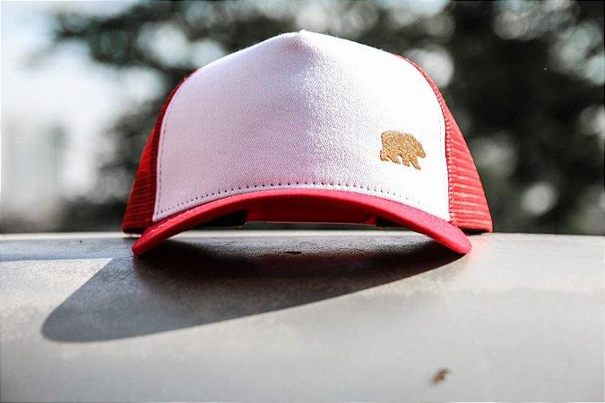Trucker Vermelho - Urso