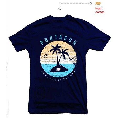 Camiseta Protagon Coqueiro - Azul