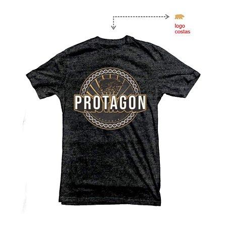 Camiseta Protagon DNA - Cinza Chumbo Mescla