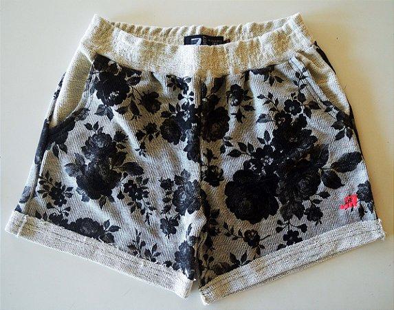 Shorts Moletom JR Mescla Floral