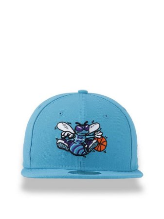 Boné New Era 5950 Charlotte Hornets Azul Claro