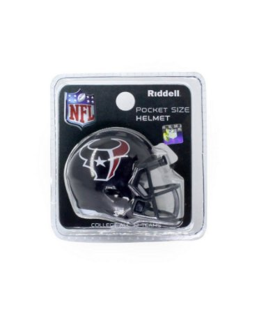 Mini Capacete de Bolso Riddell Houston Texans