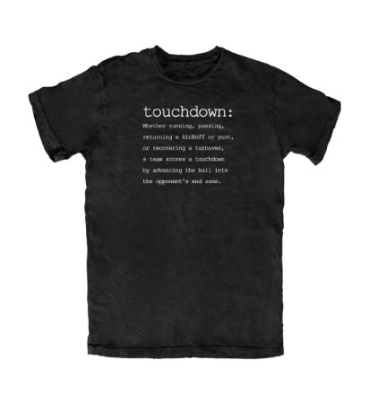 Camiseta PROGear Dictionary: Touchdown