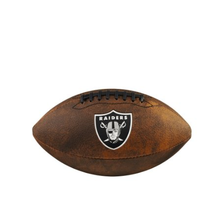 Bola de Futebol Americano NFL Throwback Oakland Raiders