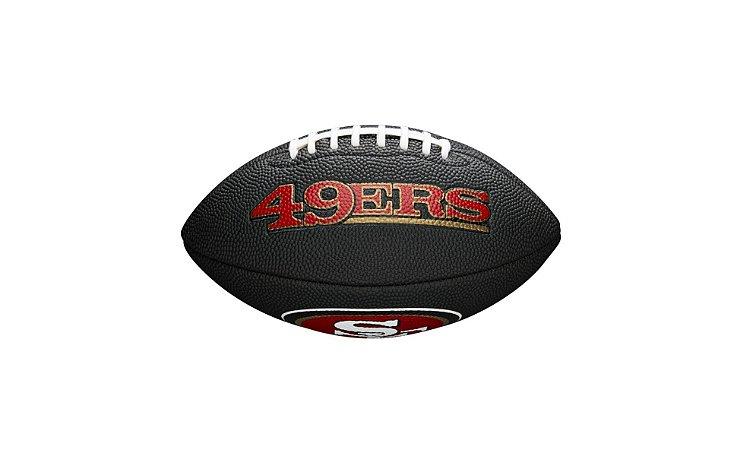 Bola de Futebol Americano NFL Black San Francisco 49ers