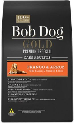 BOB DOG GOLD FRANGO E ARROZ ADULTO 15Kg