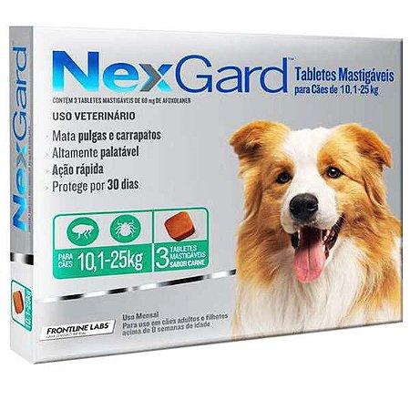 Nex Gard Antipulgas e Carrapatos Merial NexGard 68 mg para Cães de 10,1 a 25 Kg