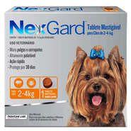 Nex Gard Antipulgas e Carrapatos Merial NexGard 11,3 mg para Cães de 2 a 4 Kg