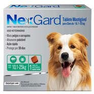 Antipulgas e Carrapatos Merial NexGard 68 mg para Cães de 10,1 a 25 Kg