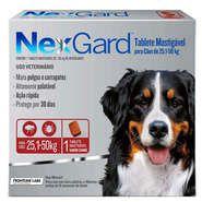 Nex Gard Antipulgas e Carrapatos Merial NexGard 136 mg para Cães de 25,1 a 50 Kg