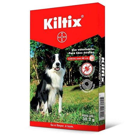 Coleira Kiltix (M) Contra Carrapato Cães de 8 a 20 kg - Bayer