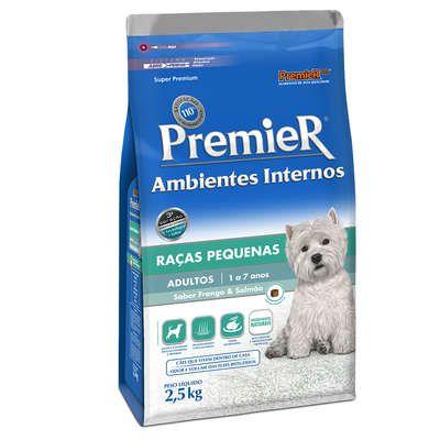 Ração Premier Pet Ambientes Internos Cães Adultos Frango e Salmão 2,5Kg