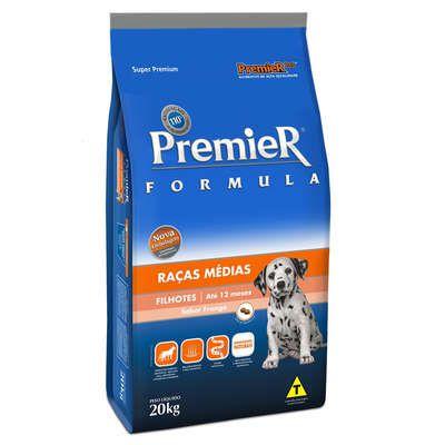 Ração Premier Pet Formula Frango para Cães Filhotes de Raças Médias 20 Kg