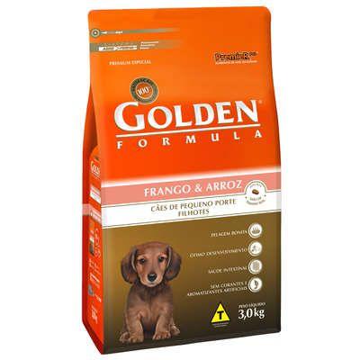 Ração Premier Golden Formula Cães Filhotes Mini Bits Frango e Arroz 3 Kg