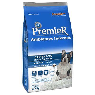 Ração Premier Pet Ambiente Interno Cães Castrados 2,5 Kg