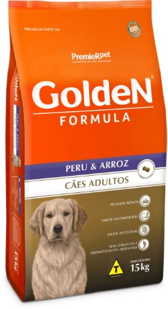 GOLDEN FORMULA CÃES ADULTOS PERU & ARROZ 15 Kg