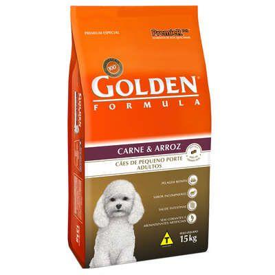 Ração Golden Formula Carne e Arroz para Cães Adultos de Raças Pequenas 15 Kg