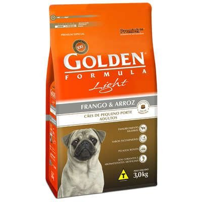 Ração Premier Golden Formula Cães Adultos Light Mini Bits Frango e Arroz 3 Kg