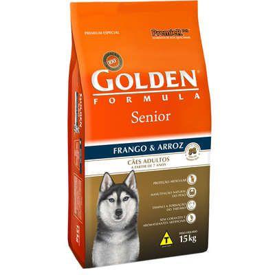 Ração Premier Golden Formula Cães Sênior Frango e Arroz 15 Kg