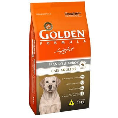 Ração Premier Golden Cães Raças Medias E Grandes Adultos Light Frango e Arroz - 15 Kg