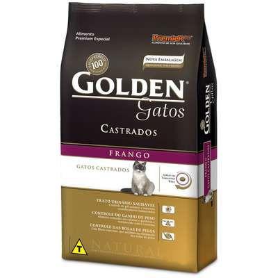 Ração Golden Gatos Adultos Castrados Frango 3 kg