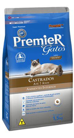 PREMIER GATOS CASTRADOS ATÉ 7 ANOS - SALMÃO 1,5kg