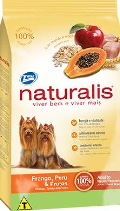 NATURALIS ADULTO FRANGO PERU E FRUTAS RAÇAS PEQUENAS 15 KG