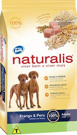 NATURALIS FRANGO E PERU ADULTOS RAÇAS GRANDES 15 KG