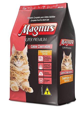 Magnus Super Premium Gatos Castrados Sabor Salmão e Arroz 10.1 Kg
