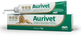 Aurivet Suspensão oleosa otológica, antibiótica, antimicótica,  anti-inflamatória e analgésica 13 g