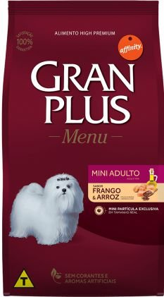 GRANPLUS MENU CÃO ADULTO MINI SABOR FRANGO & ARROZ 10 kg