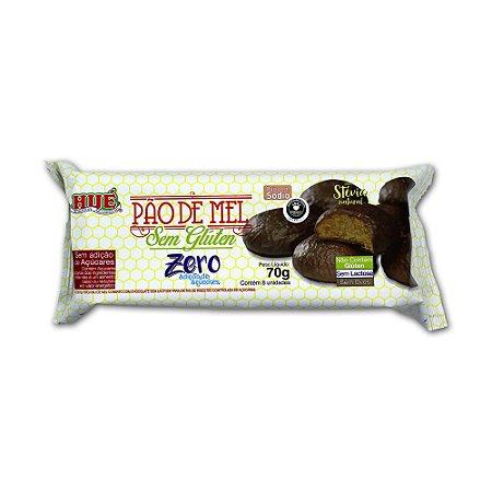 Pão de Mel Zero Açúcar coberto com Chocolate Diet Hué Vegano Sem Glúten Sem Lactose Pacote 70g