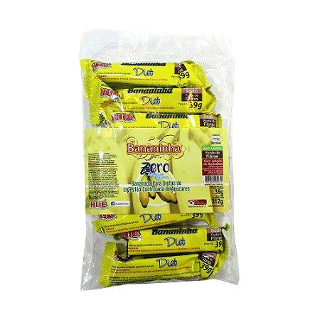 Bananinha Diet Hué (Sem Adição de Açúcares) Vegano  Sem Glúten  Sem Lactose 312g (Com 8 Unidades de 39g)