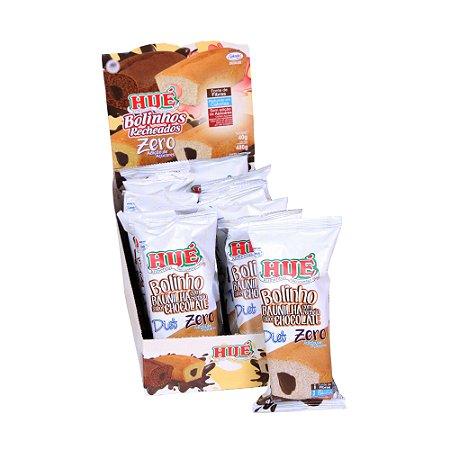 Display Bolinho de Baunilha recheado com Chocolate Hué Zero(Sem Adição de Açúcares) 480g (com 12 Unidades de 40g)