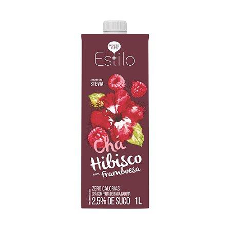 Chá de Hibisco com Frambroesa + Estilo 1 Litro Adoçado com Stevia