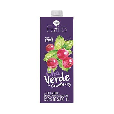 Chá Verde com Cranberry + Estilo 1 Litro Adoçado com Stevia